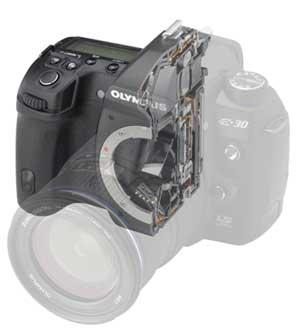 Olympus E-30 digital SLR highlights