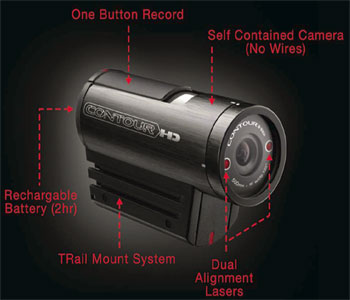 ContourHD wearable camcorder highlights