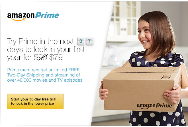 Try Prime in the next 7 days to lock in your first year for $79