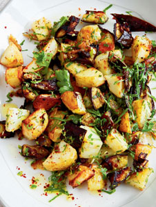Roasted Potatoes and Eggplants