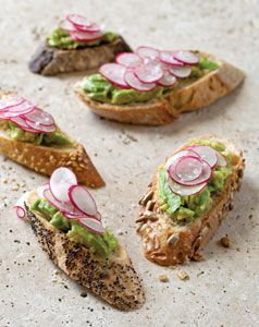 Avocado and Radish Tartine