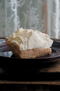Rhubarb Lime Icebox Pie