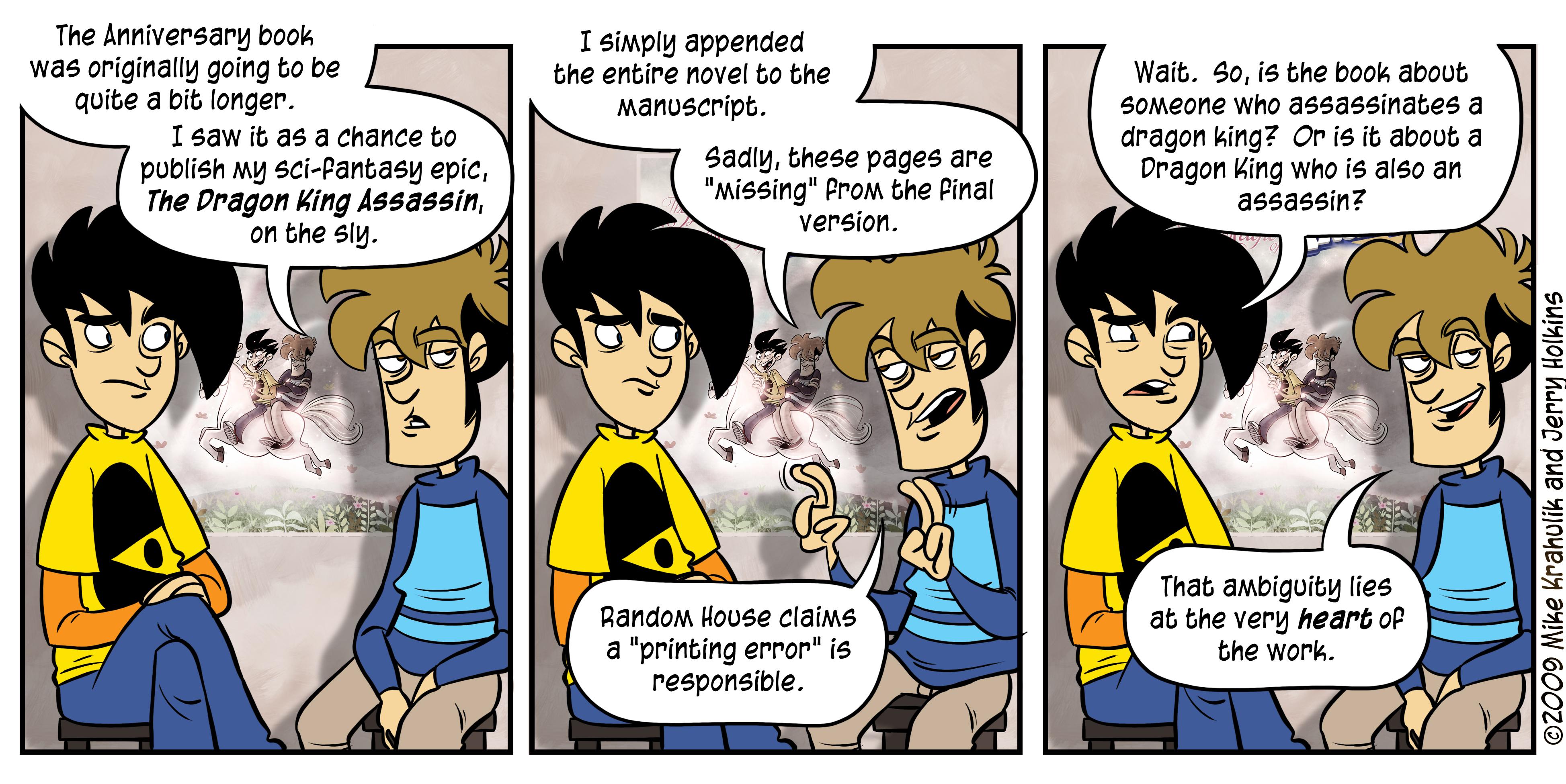 Arcade comic penny strip