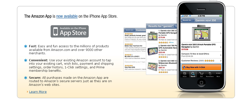 New iPhone shopping application from Amazon.com