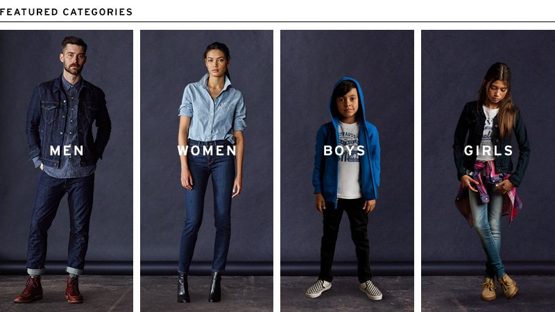 Featured Categories from Levi's