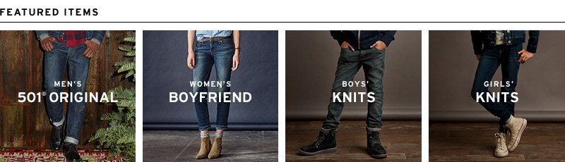 Favorite Featured Items from Levi's