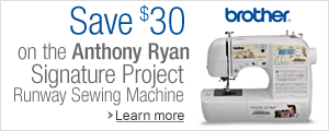 Save $30 on the Anthony Ryan Signature Project Runway Sewing Machine