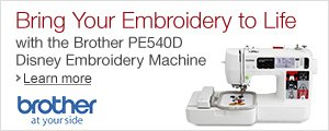 Bring Your Embroidery to Life with the PE540D Disney Embroidery Machine from Brother