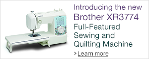 Introducing the new Brother XR3774 Full-featured Sewing and Quilting Machine