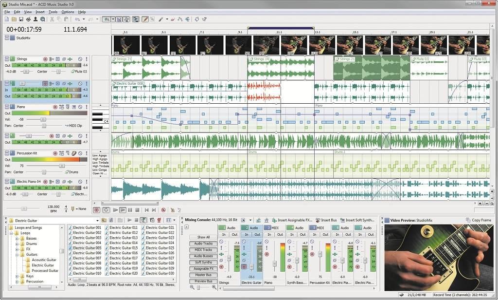 عملاق الهندسة الصوتيه Sony ACID Music Studio_9.0_Build_32