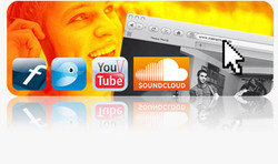 Upload your own songs with one click to Twitter, Facebook, MySpace, SoundCloud, etc.