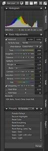 AfterShot Pro Standard tab