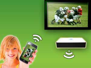 Stream multimedia from your portable device to your TV/projector