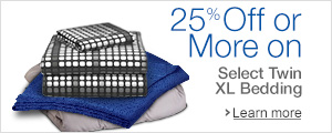 25% off Twin XL Bedding