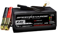 The Schumacher SEM-1562A 1.5 Amp Speed Charge Maintainer with battery connection options