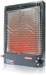 The Camco Olympian RV Wave-6 6000 BTU LP Gas Catalytic Heater