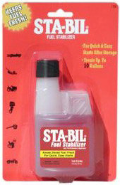 4-oz bottle of Gold Eagle Sta-Bil Fuel Stabilizer blister card