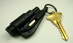 A black ResQMe attached to key chain
