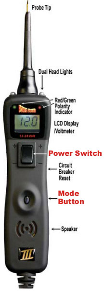 Power Probe III tool handset features