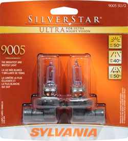 Sylvania 9005SU SilverStar Ultra High Performance halogen headlight retail pack of 2