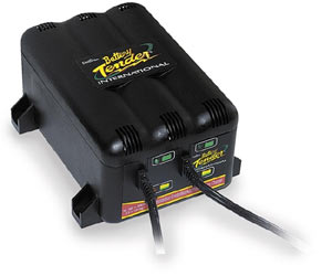 The Deltran Battery Tender Junior 12V Battery Charger in retail packaging