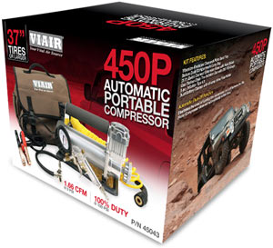 VIAIR 450P Automatic Portable Compressor in packaging
