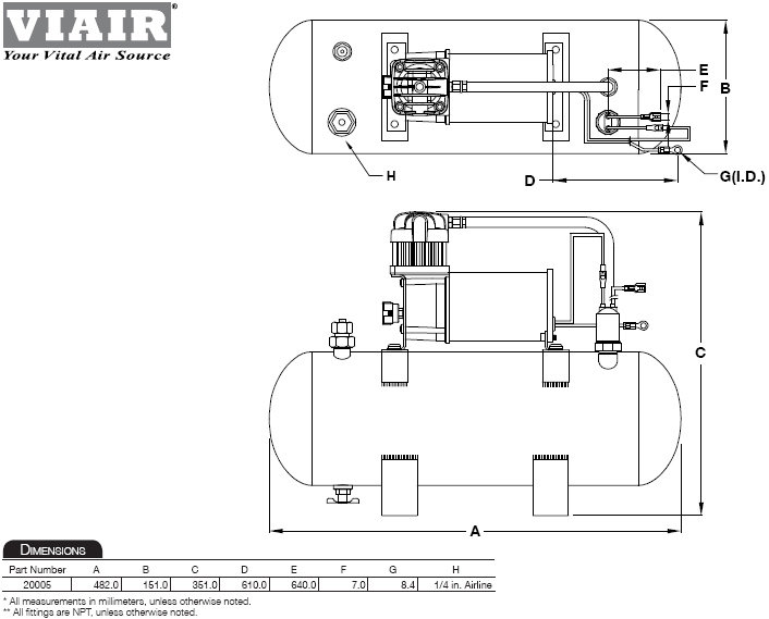 viair 35030 350c air compressor kit  air compressors  u0026 inflators