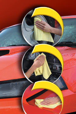 The multiple automotive uses of Zwipes Microfiber Cleaning Cloths
