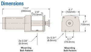 Schematics of the Superwinch LT2000 Utility Winch