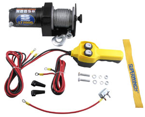 Items included with the Superwinch LT2000 Utility Winch