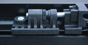 The no tool, manual tension controls of the TruXedo TruXport soft roll-up tonneau cover