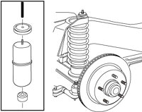 Air Lift 60702 1000 Series Rear Air Spring Kit installation illustration