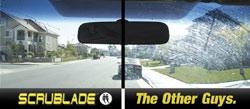 Scrublade vs. competitors compared on a windshield