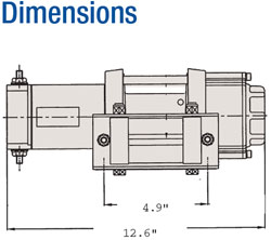Superwinch ATV3000 winch dimensions