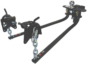The Camco 48064 RV Bent Bar (Elite) Weight Distributing Hitch with Adjustable Ball Mount