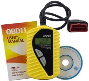 Roadi RDT40 Basic Diagnostic Code Reader box contents