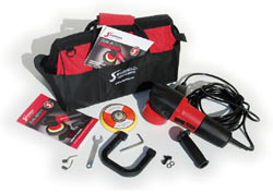 The Shurhold 3100 Dual Action Polisher box contents