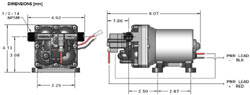 Schematic of the SHURflo 4008-101-E65 3 GPM 55 PSI Revolution Pump