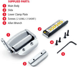 Box contents of the CG-Lock CG001 Seatbelt Stabilizer