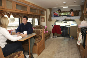 A family kept comfortable and warm in their RV