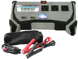 The Peak PKC0BO 400 Watt Tailgate Inverter with included accessories