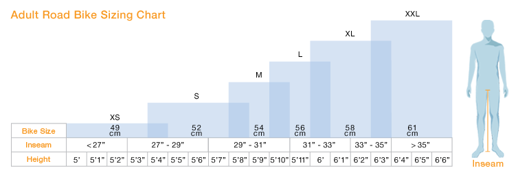 Bike Size Chart For Kids Road Bike Sizing Chart