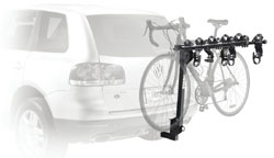 Thule 915XT Roadway 5-Bike Hitch Carrier mounted on a car