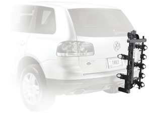 Thule 915XT Roadway 5-Bike Hitch Carrier with empty carrier arms folded down