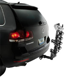 Thule Ridgeline 4-Bike Hitch Carrier with carrier arm locked away