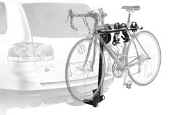 Thule 912XT Roadway 2-Bike Hitch Carrier mounted on a car