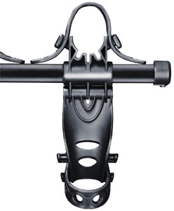 Stay-Put cradles with anti-sway cages of the Thule 912XT Roadway 2-Bike Hitch Carrier