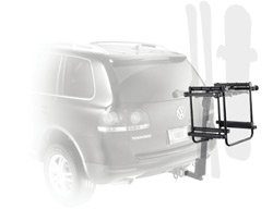The Thule 987XT 6-Ski Adapter for Thule Hitch Mount Bike Racks mounted
