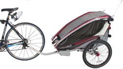 The Chariot bicyle trailer conversion kit installed on the Chariot CX 1