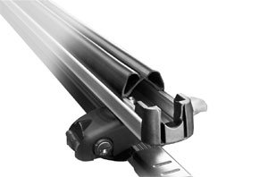 The inner rubber padding of the arms of the Thule 92725 universal flat top 6 pair ski and snowboard carrier
